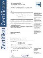 Zertifikat vds-3138nsl