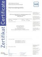 Zertifikat vds-din50518